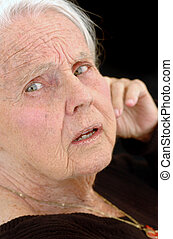 grand-mère, grand, désordre