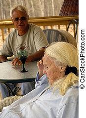 grand-mère, grand, problèmes