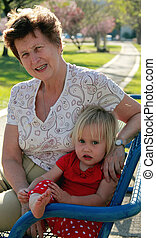 grand-mère, petite-fille