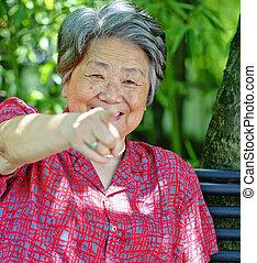 grand-mère, portrait