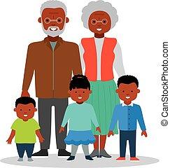 grand-maman, et, papy, à, grandkids