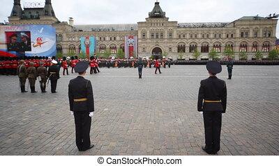 grand, mars, grande-bretagne, drapeau, sous, militaire, ...
