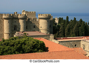 Grand Master's palace in Rhodes city, Greece.