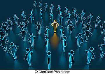 grand, mené, cadres, executives., réussi, stands, ils., éditorial, rendre, devant, 3d, équipe