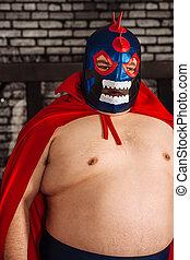 grand, mexicain, lutteur