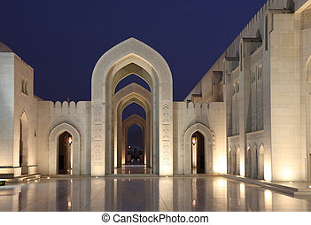 Grand Mosque in Muscat - Sultan Qaboos Grand Mosque in...