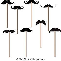 grand, moustache, collection