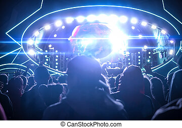 grand, musique, festival, fête, vue, de, les, étape, depuis, les, audience
