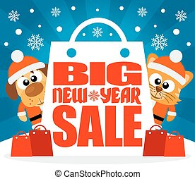 grand, nouveau, vente, animal, année
