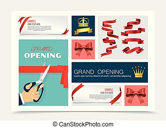 Grand Opening And Gifts Decoration Composition