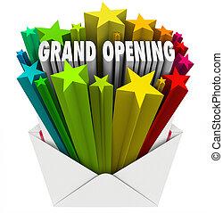Grand Opening Announcement Letter Envelope Flyer - Grand...