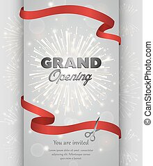 Grand opening banner design vector illustration - Grand...