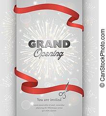 Grand opening banner design vector illustration