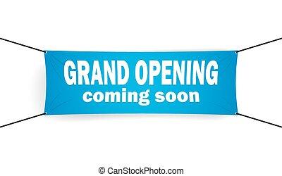 Grand opening banner vector illustration