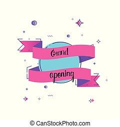 Grand opening banner. Vector illustration.