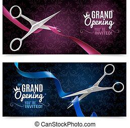 Grand Opening Banners Set - Grand opening realistic...
