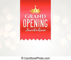 grand opening celebration banner template design