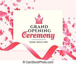 grand opening ceremony celebration banner design
