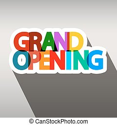 Grand Opening Colorful Paper Title