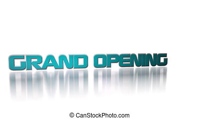 Grand opening coming soon promotional advertisement text for big seasonal or holiday events sales and discounts HD footage.