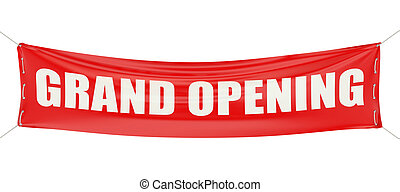 grand opening concept isolated on white background