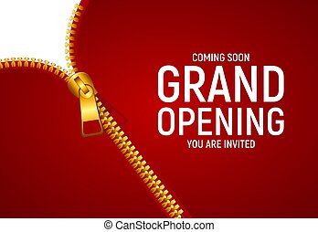 Grand opening concept. Vector Illustration