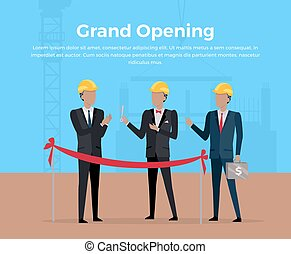 Grand Opening Concept Vector Illustration