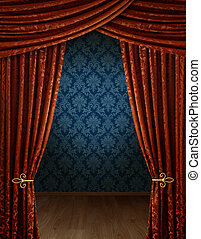 Grand opening curtains - Grand opening showroom with rretro...