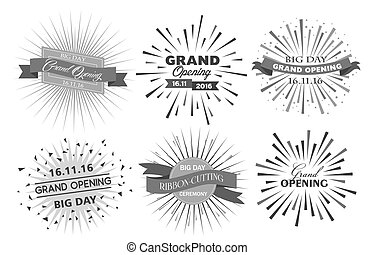 Grand opening design vector illustration