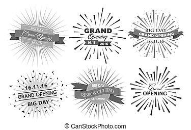 Grand opening design vector illustration