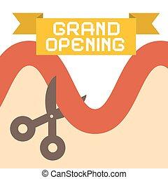 Grand Opening Flat Design Retro
