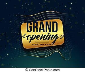 grand opening golden banner design