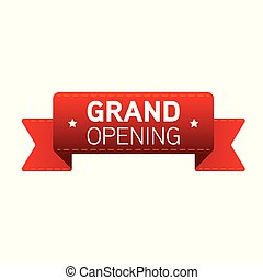 Grand Opening red ribbon