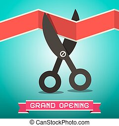 Grand Opening Retro Illustration