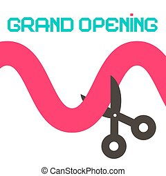 Grand Opening Ribbon with Scissors