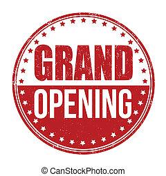 Grand opening stamp
