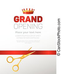 Grand opening template - modern vector illustration