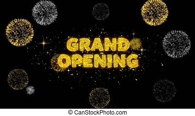 Grand Opening Text Reveal on Glitter Golden Particles ...