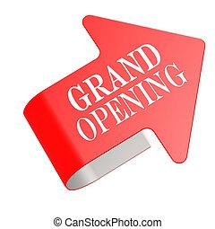 Grand opening twist label