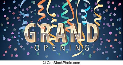 Grand opening vector background