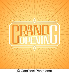 Grand Opening Vector Banner Illustration Poster Invitation