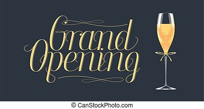 Grand opening vector design element