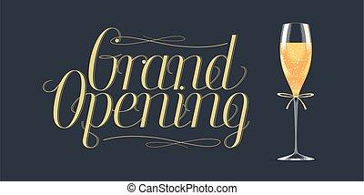 Grand opening vector design element