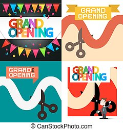 Grand Opening Vector Designs Set