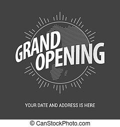 Grand opening vector illustration