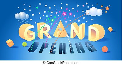 Grand opening vector illustration