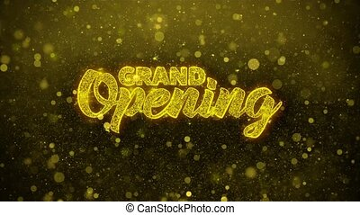 Grand Opening Wishes Greetings card, Invitation, Celebration Firework 1