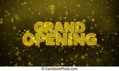 Grand Opening Wishes Greetings card, Invitation, Celebration...