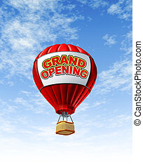 Grand Opening With a Hot Air Balloon
