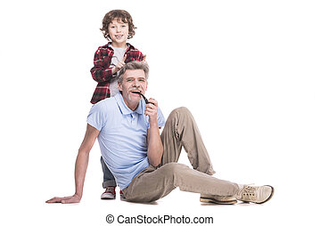 grand-père, et, petit-fils